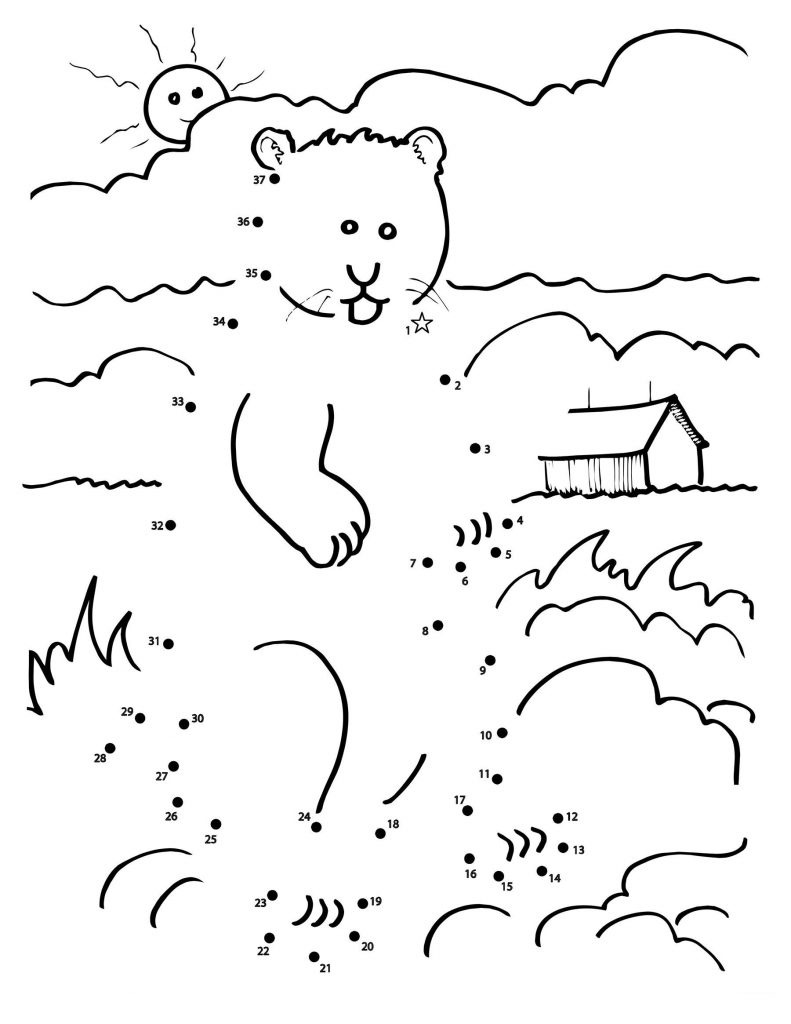 Groundhog Day Connect the Dots Worksheet