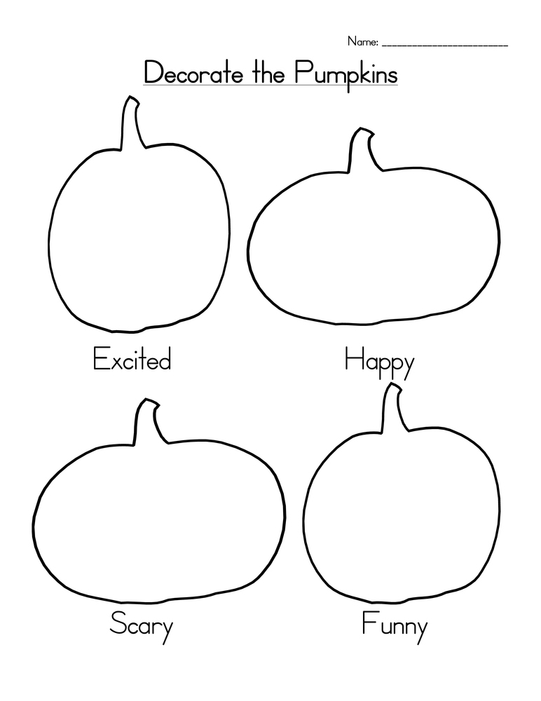 Halloween Pumpkins Holiday Worksheet