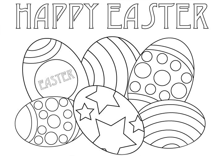 Happy Easter Coloring Worksheet