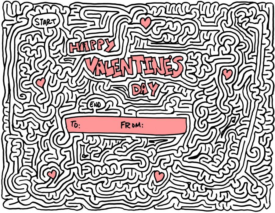 Hard Valentines Day Maze
