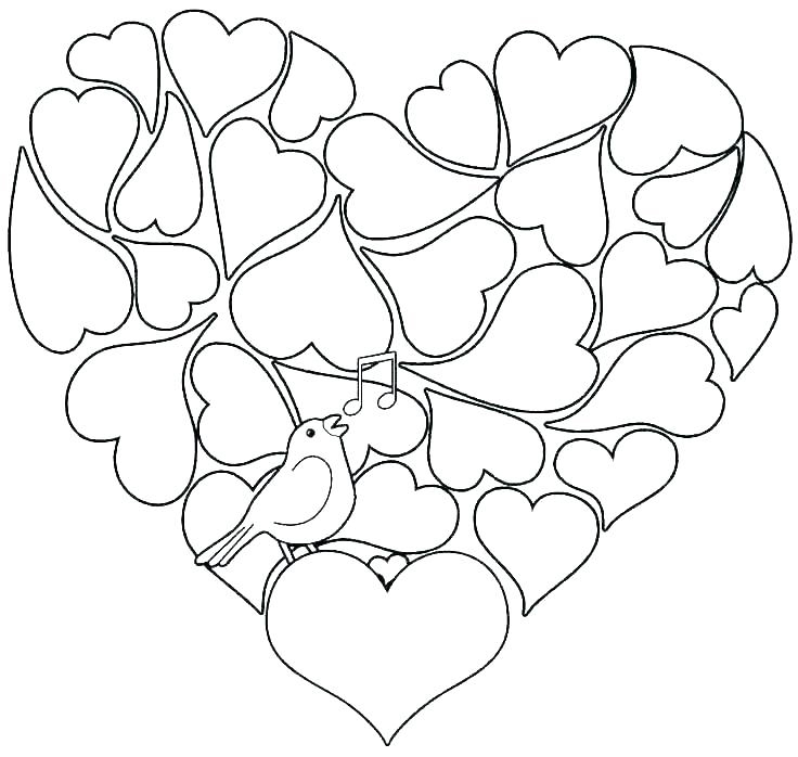 - Hearts Coloring Pages For Adults - Best Coloring Pages For Kids