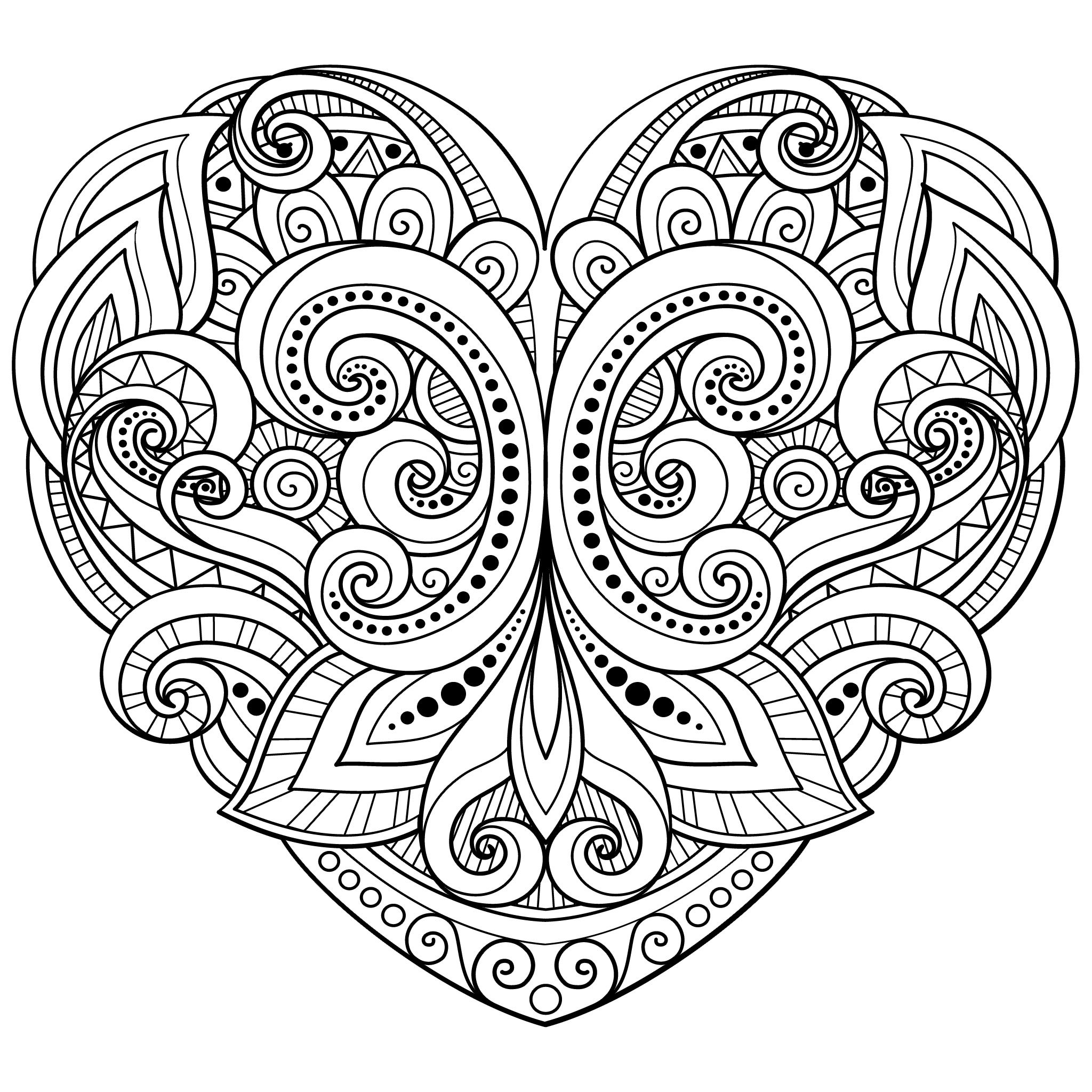 Hearts Coloring Pages For Adults Best Coloring Pages For Kids