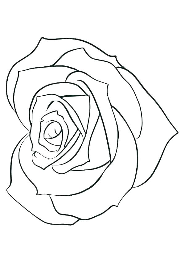 Heart Shaped Rose Coloring Page