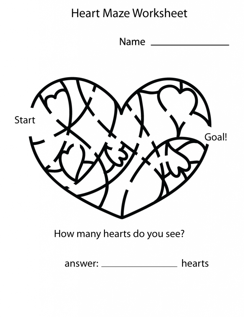 valentine day mazes coloring pages - photo#31