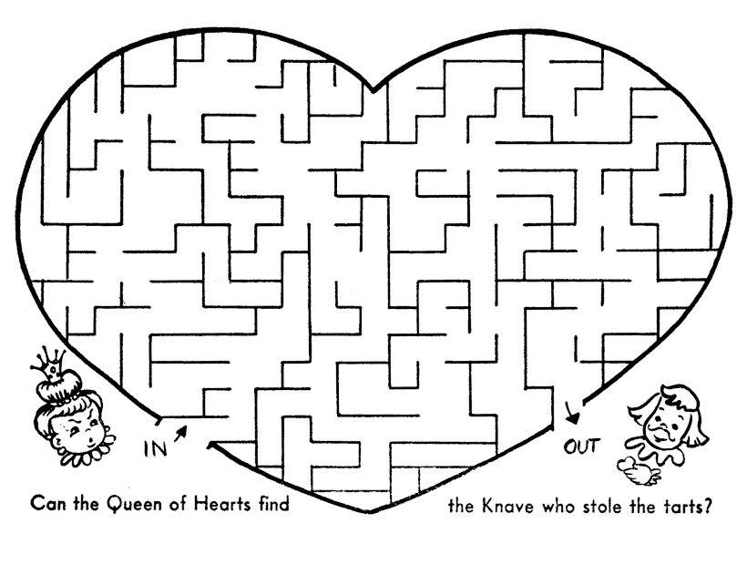 Heart Valentines Day Maze