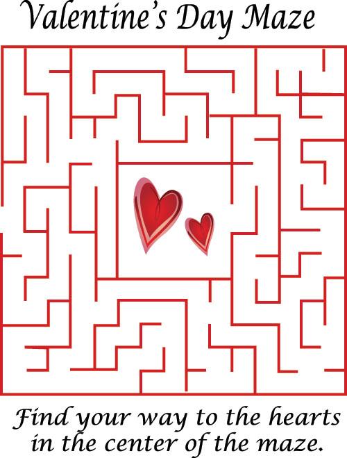 Heart Valentines Maze