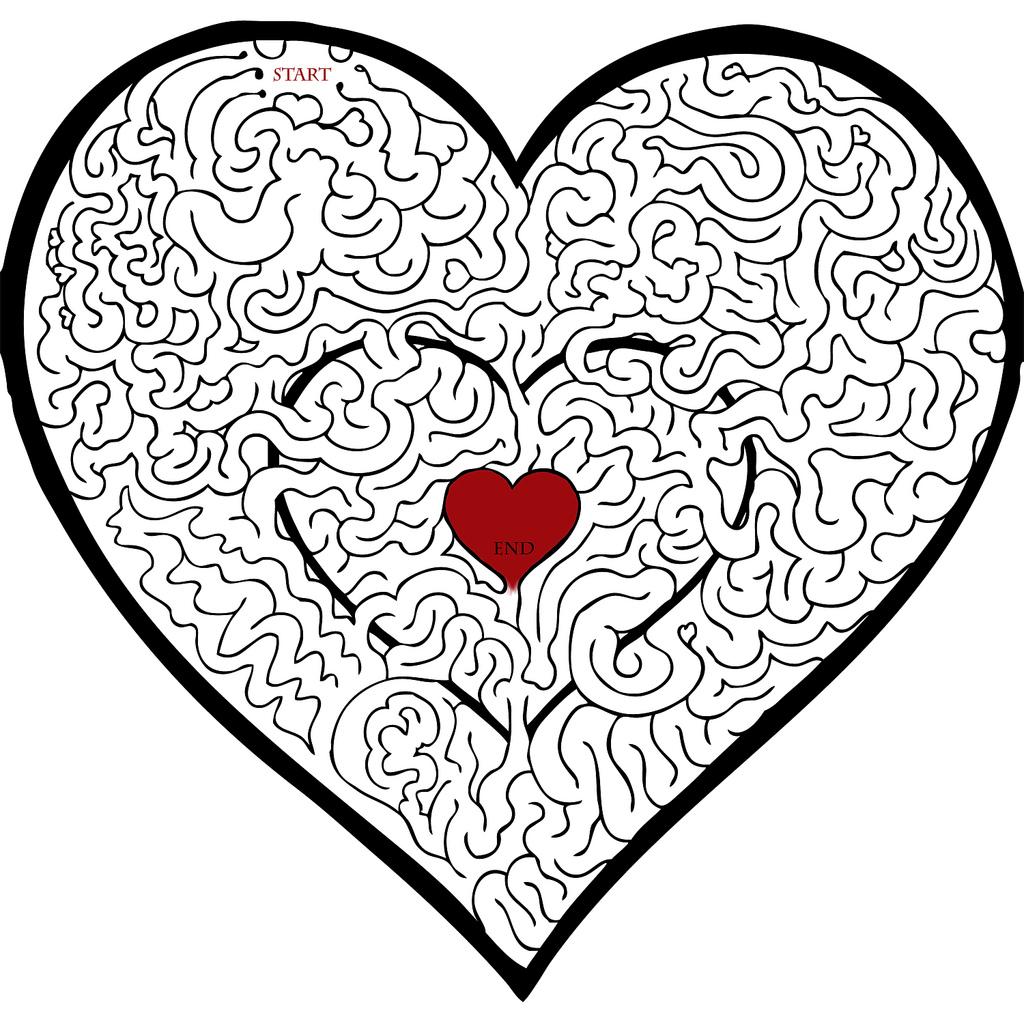 Heart Valentines Mazes