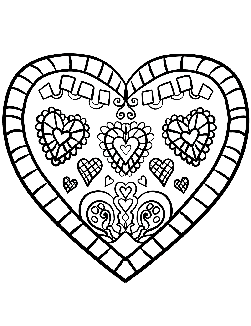 It's just an image of Eloquent Adult Coloring Pages Hearts