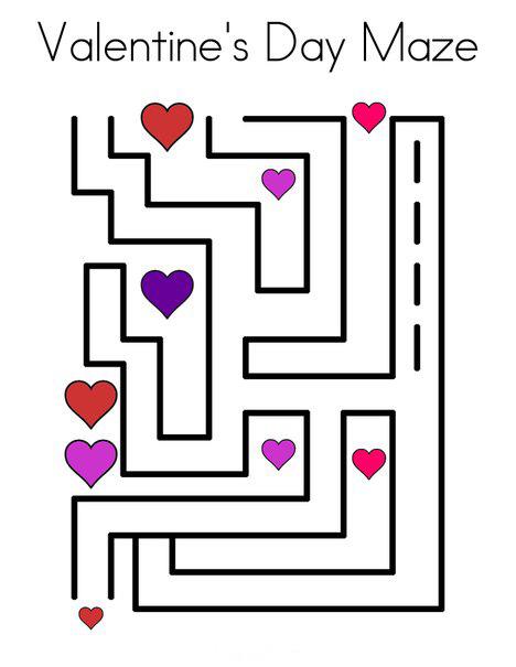 Hearts Valentines Day Maze