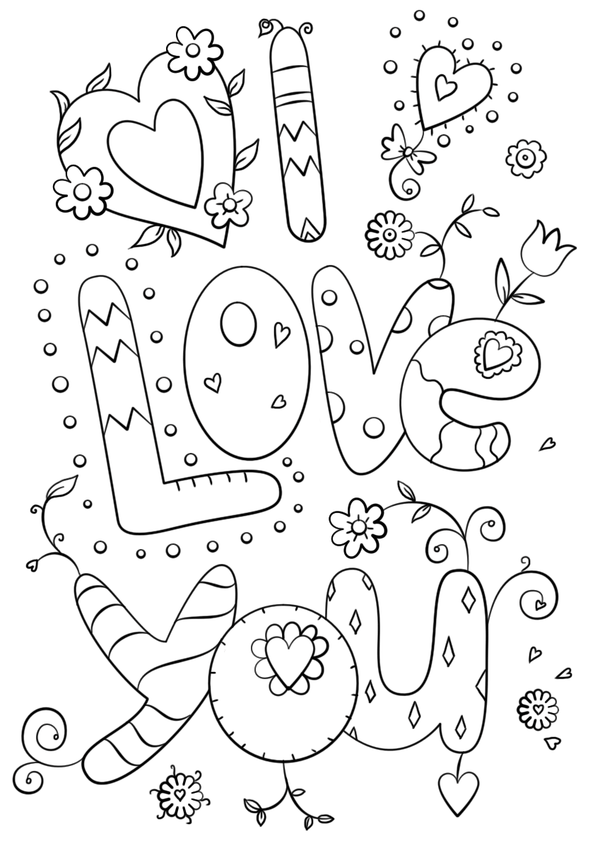 Love Coloring Pages Best Coloring