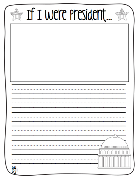 If I Were President Worksheet