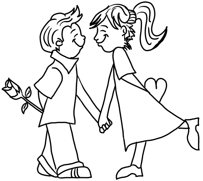 In Love Coloring Page