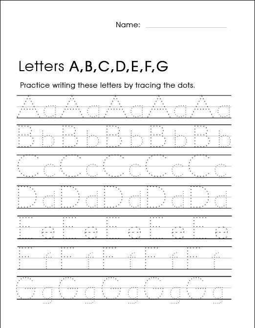 Kindergarten Handwriting Worksheets - Best Coloring Pages ...