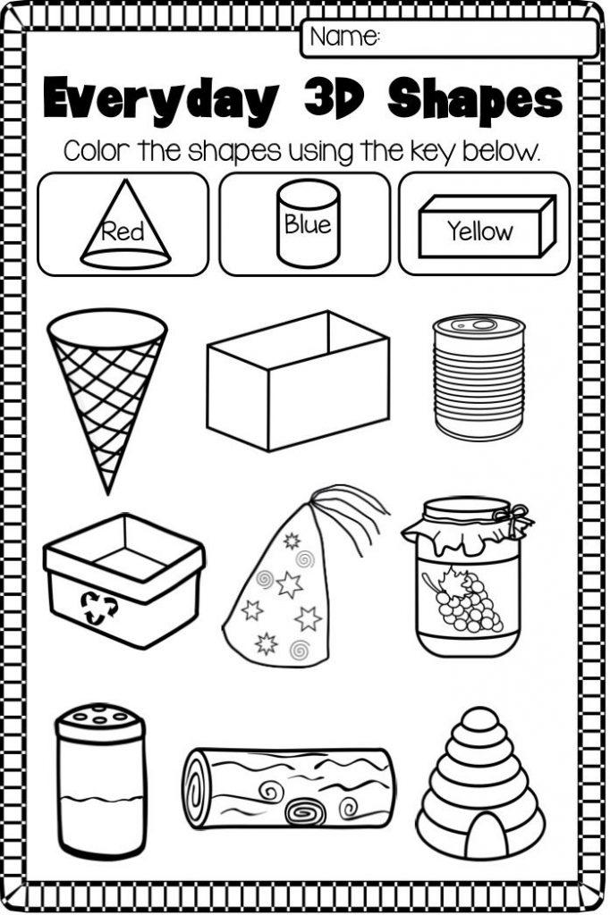 Kindergarten Worksheets Shapes