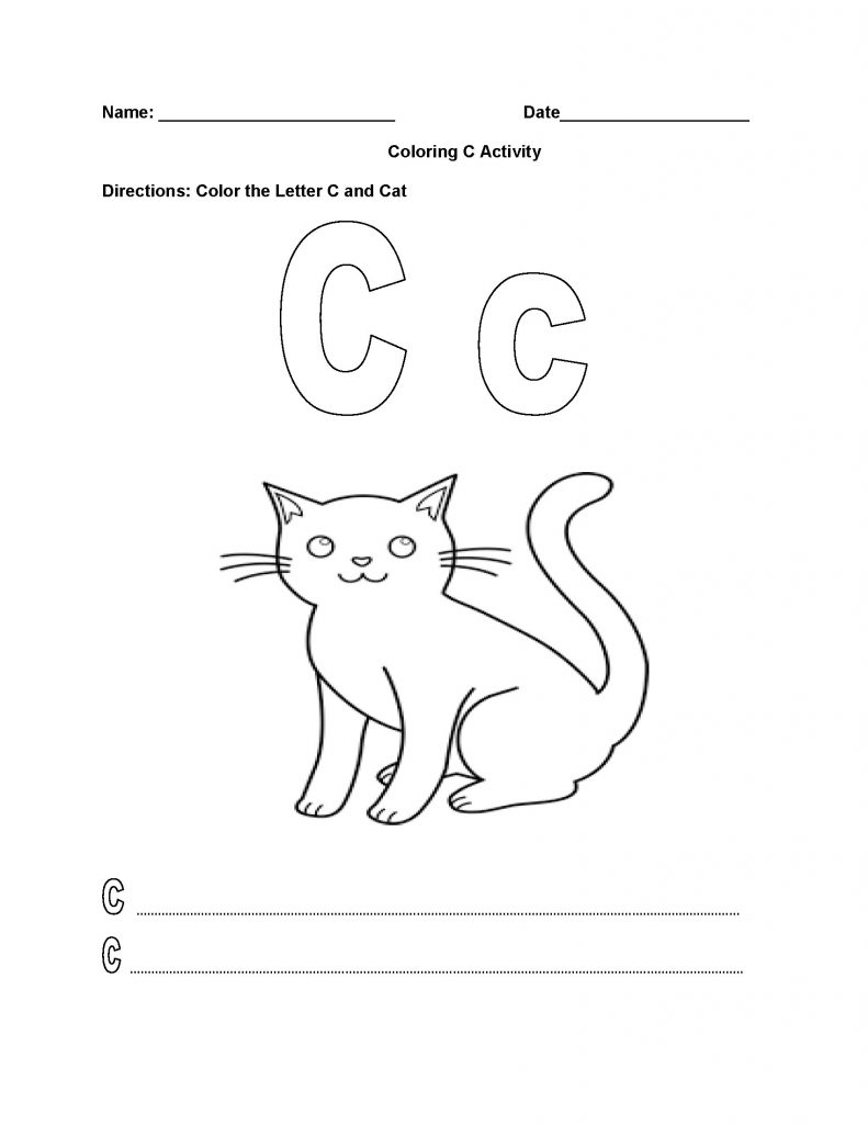 Letter C Alphabet Worksheet