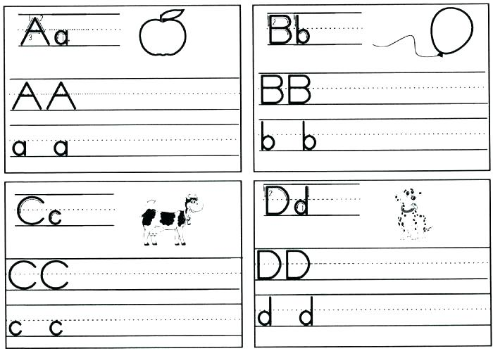 Letters Kindergarten Handwriting Worksheets
