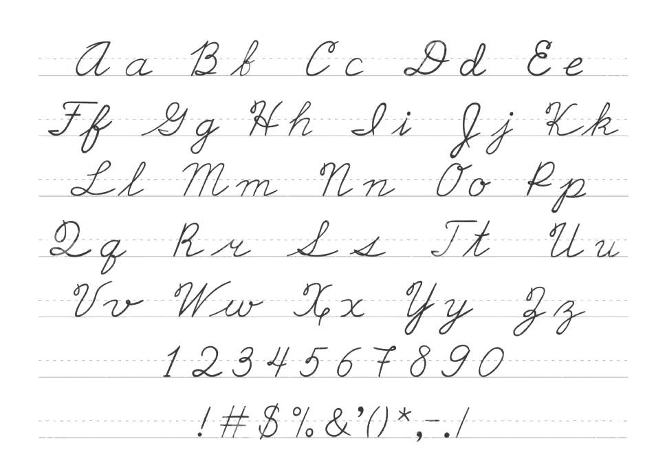 Letters Numbers Kindergarten Handwriting Worksheets