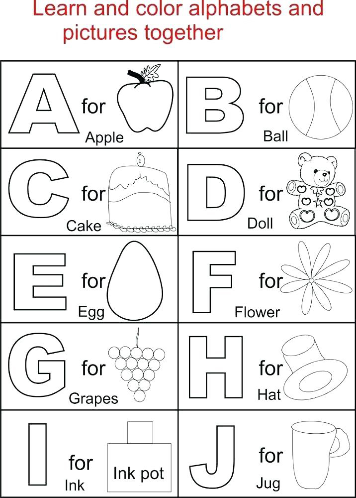 Letters and Pictures - Alphabet Worksheets