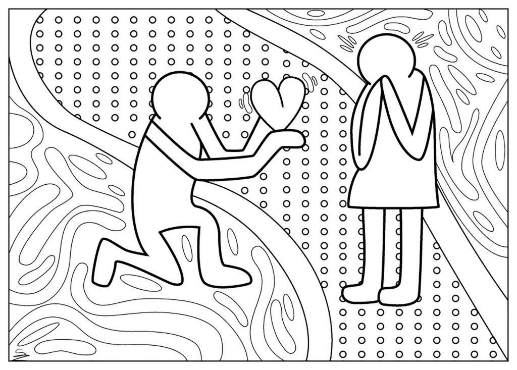 Love Marriage Coloring Page