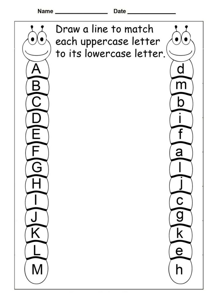 Match the Letters Alphabet Worksheet