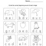 Phonics Worksheets for Kindergarten
