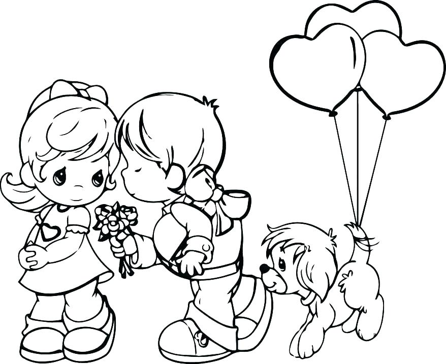 Precious Love Coloring Pages