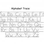 Preschool Alphabet Trace Worksheet