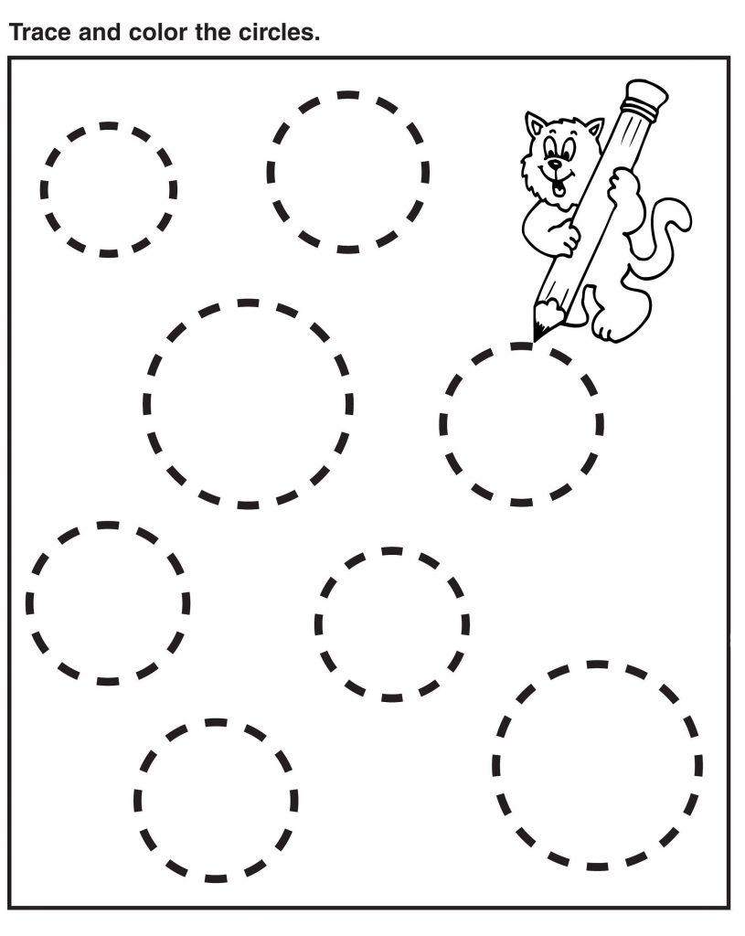 Preschool Tracing Circles Worksheets