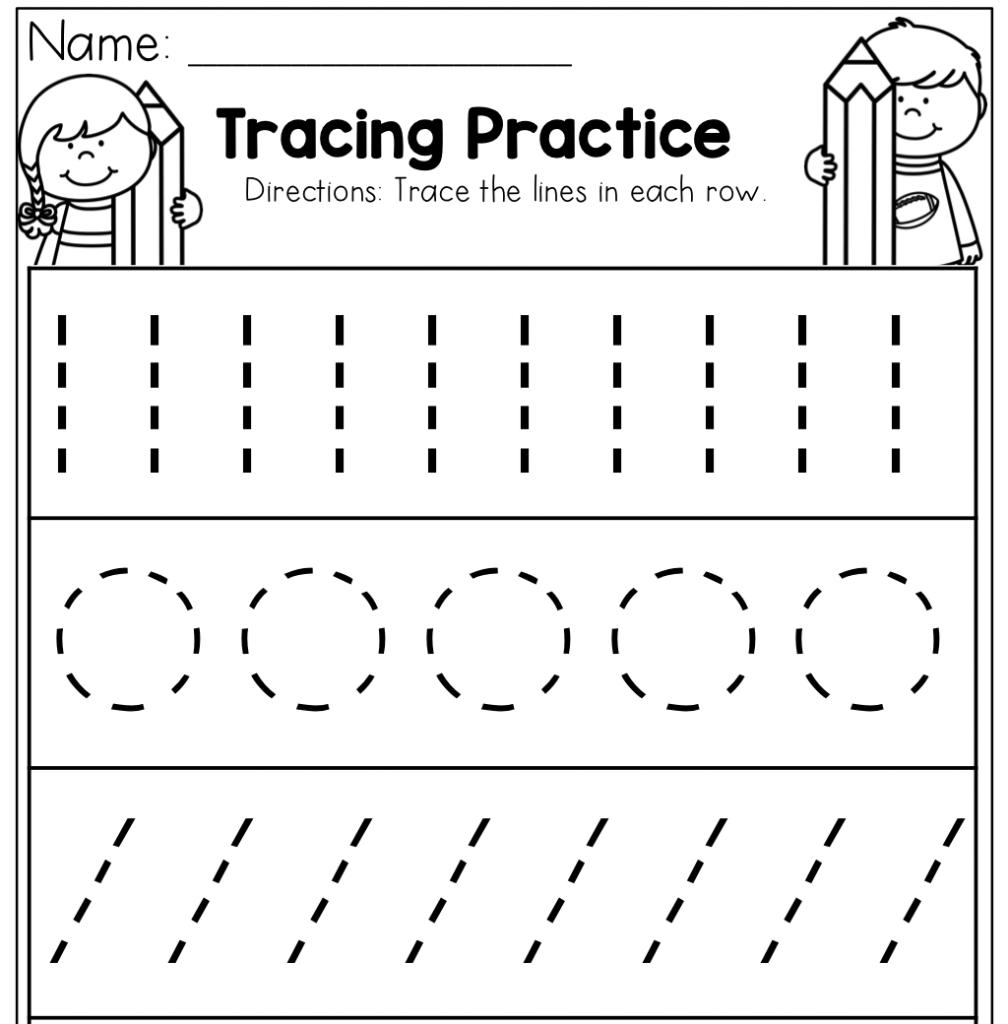 Preschool Tracing Practice Worksheets