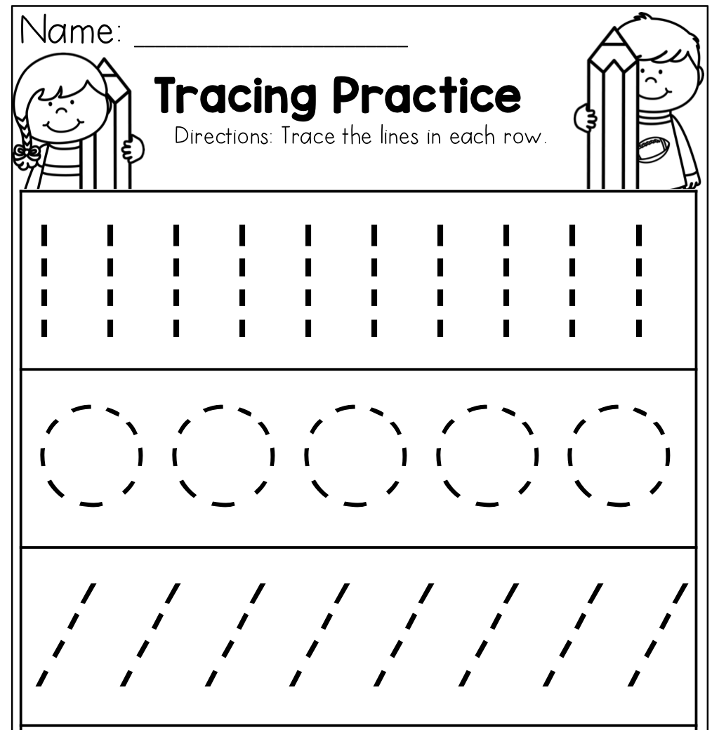 - Preschool Tracing Worksheets - Best Coloring Pages For Kids