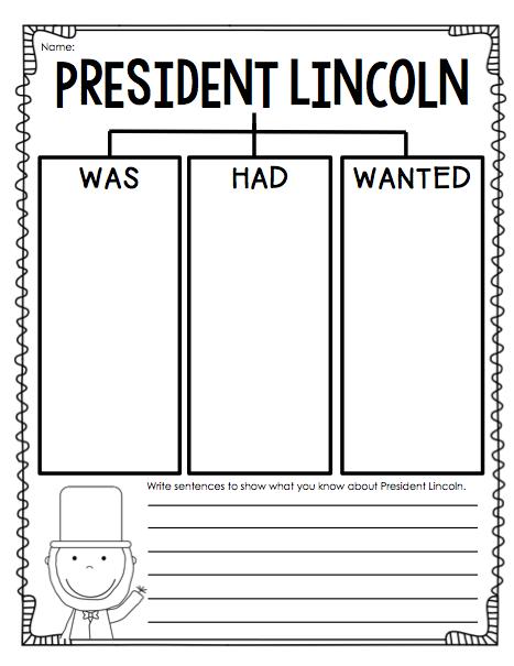 President Lincoln Worksheets