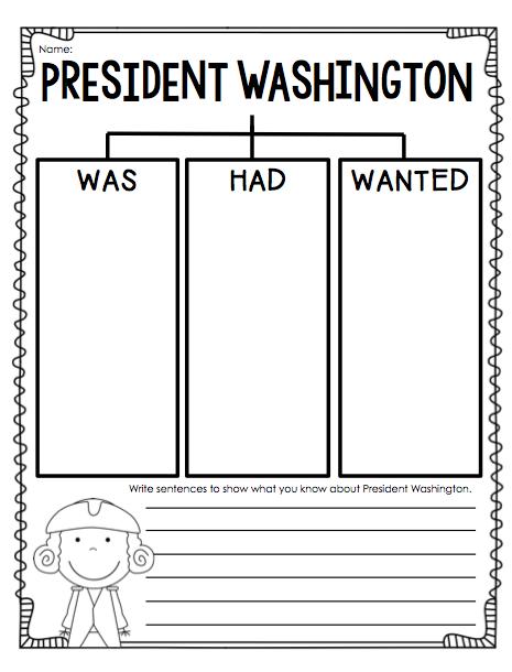 President Washington Worksheets