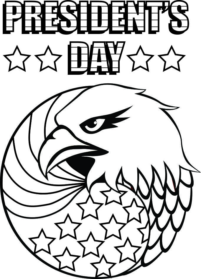 Presidents Day Eagle Coloring Sheets