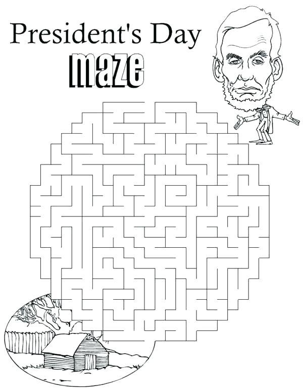 Presidents Day Maze Worksheets