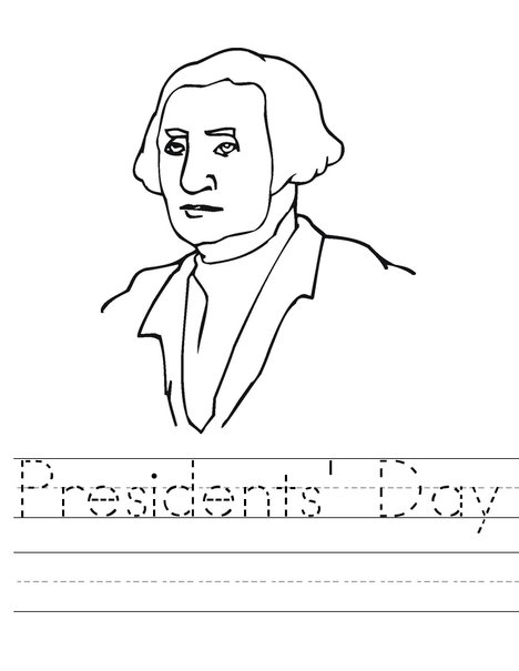 Presidents Day Word Trace Worksheet
