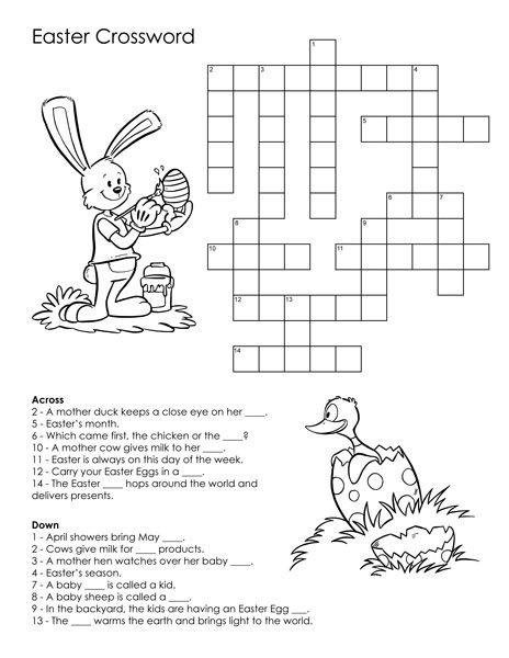Printable Easter Crossword