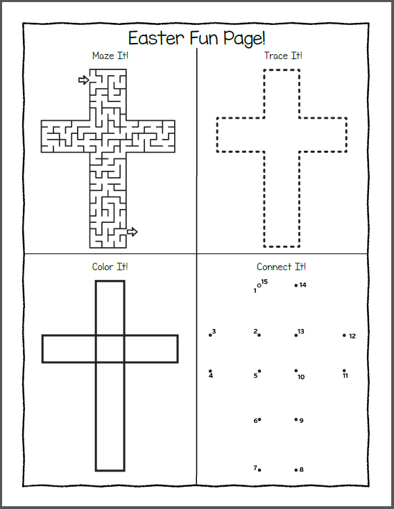 Printable Easter Fun Puzzles