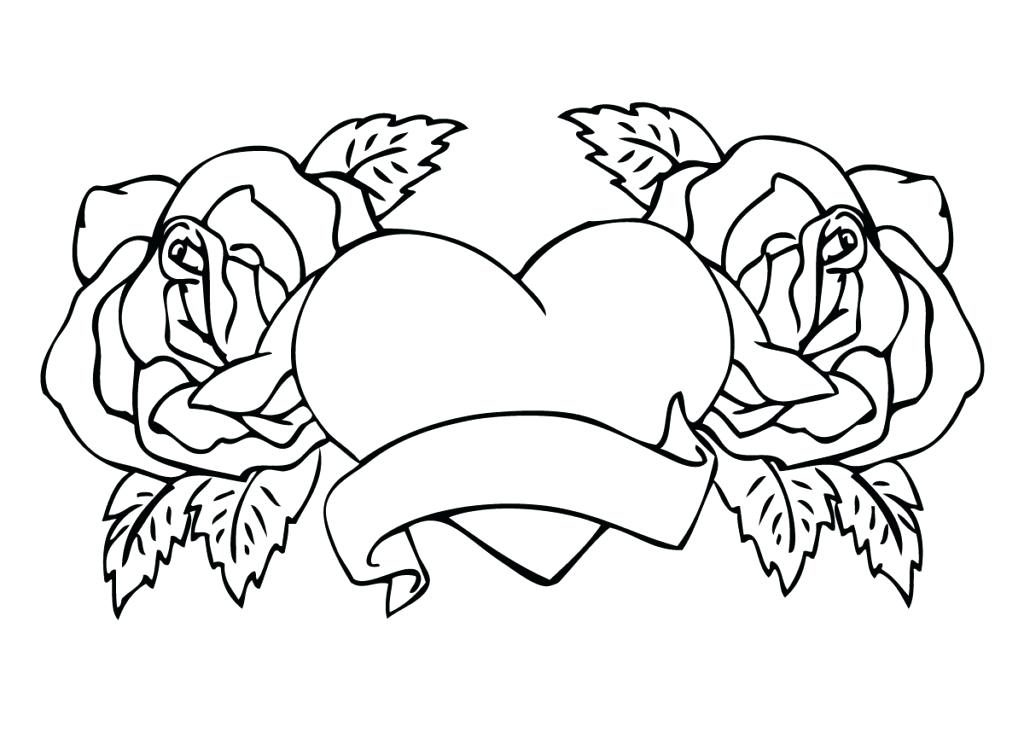 Printable Heart Coloring Pages for Adults