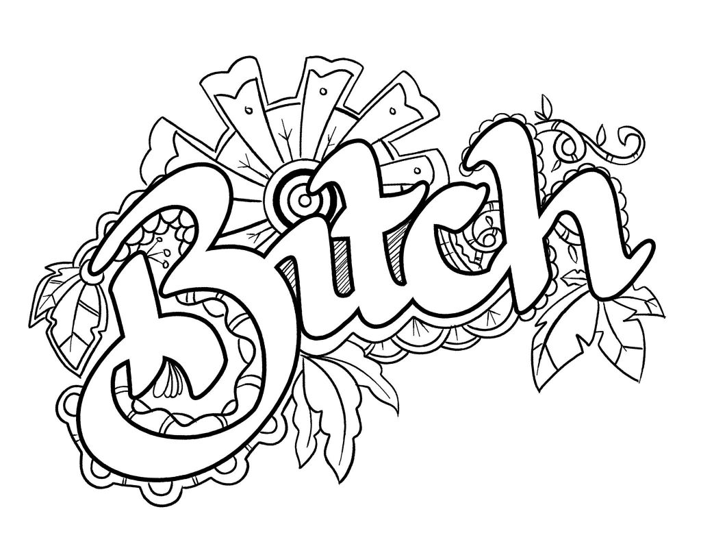 Printable Swear Word Coloring Page