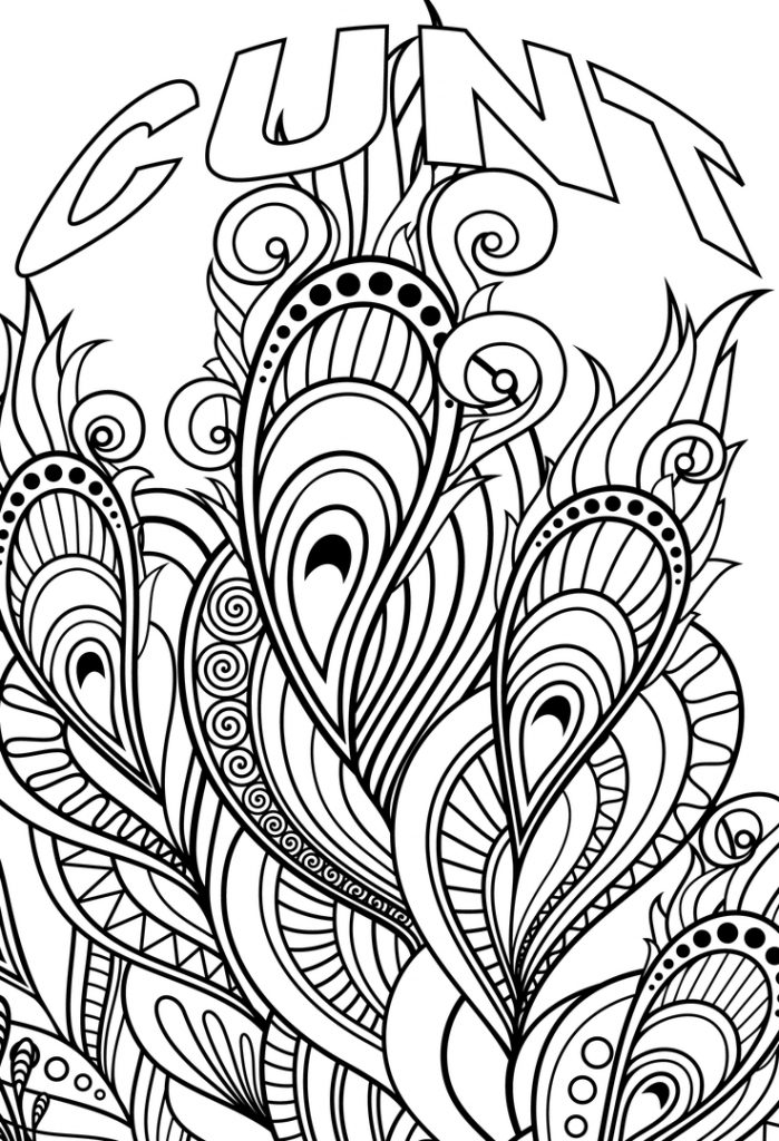 Printable Swear Word Coloring Pages