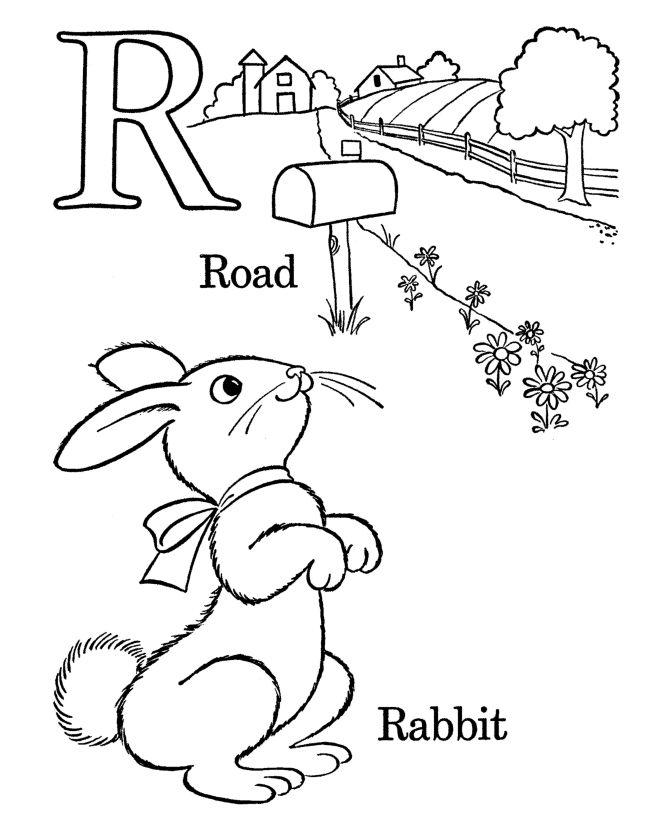 R for Rabbit Easter Worksheet