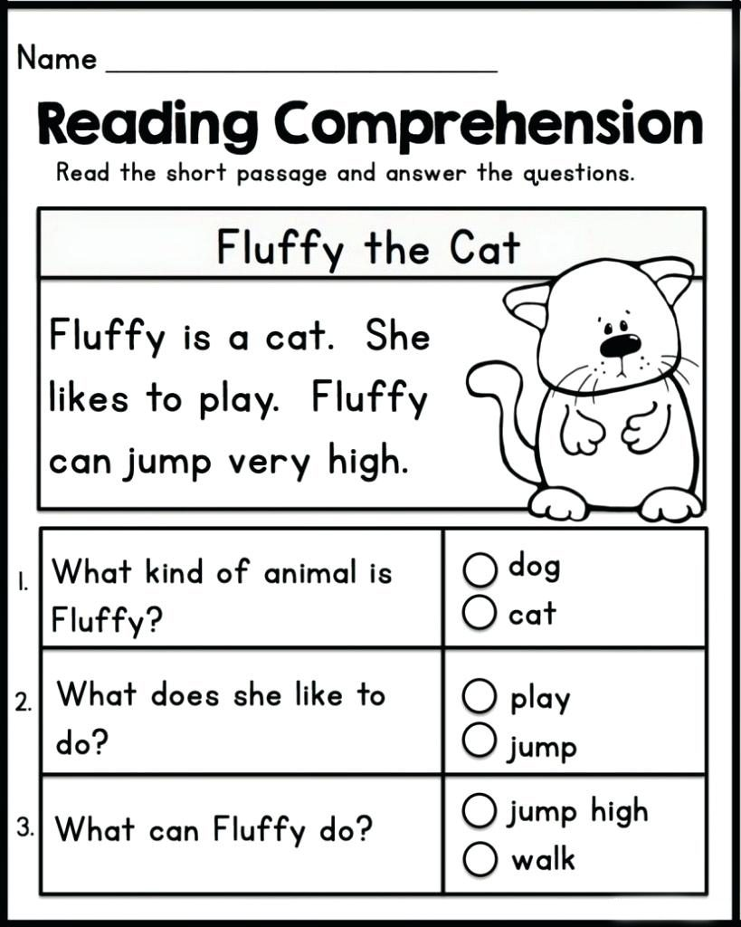 Reading Comprehension Kindergarten English Worksheets