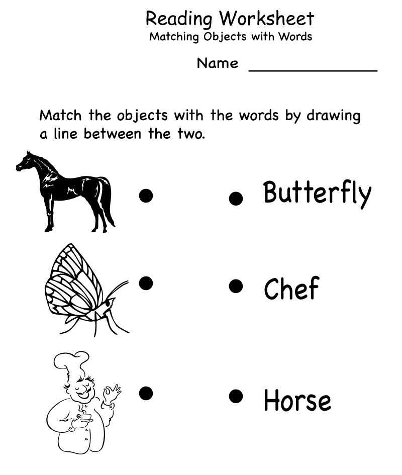 Reading - Kindergarten English Worksheets