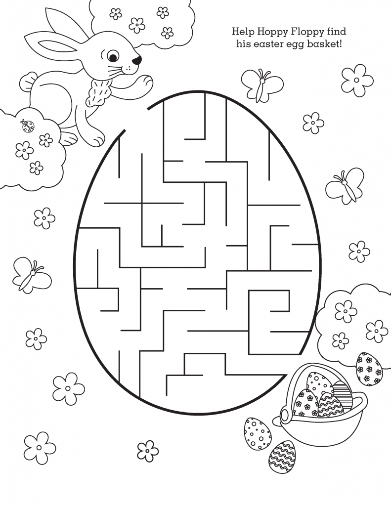 Simple Easter Mazes