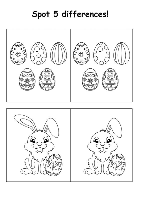 Spot the Differences Easter Puzzle