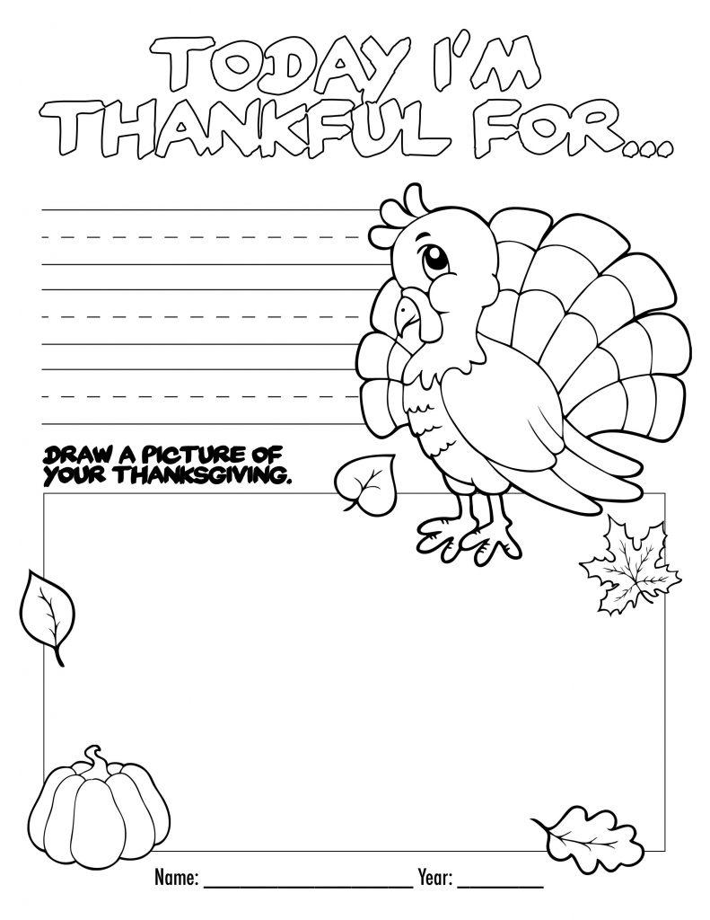 Thanksgiving Holiday Worksheet