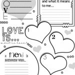 Valentines Friendship Worksheet