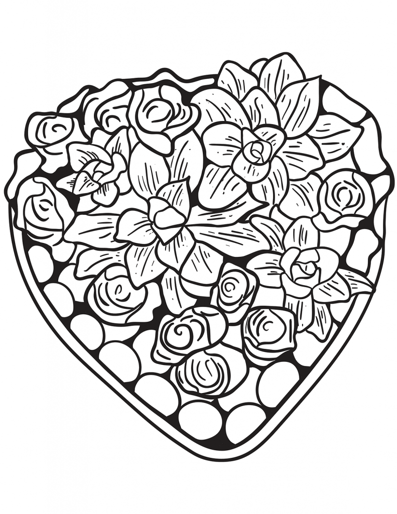 Heart Design Coloring Pages