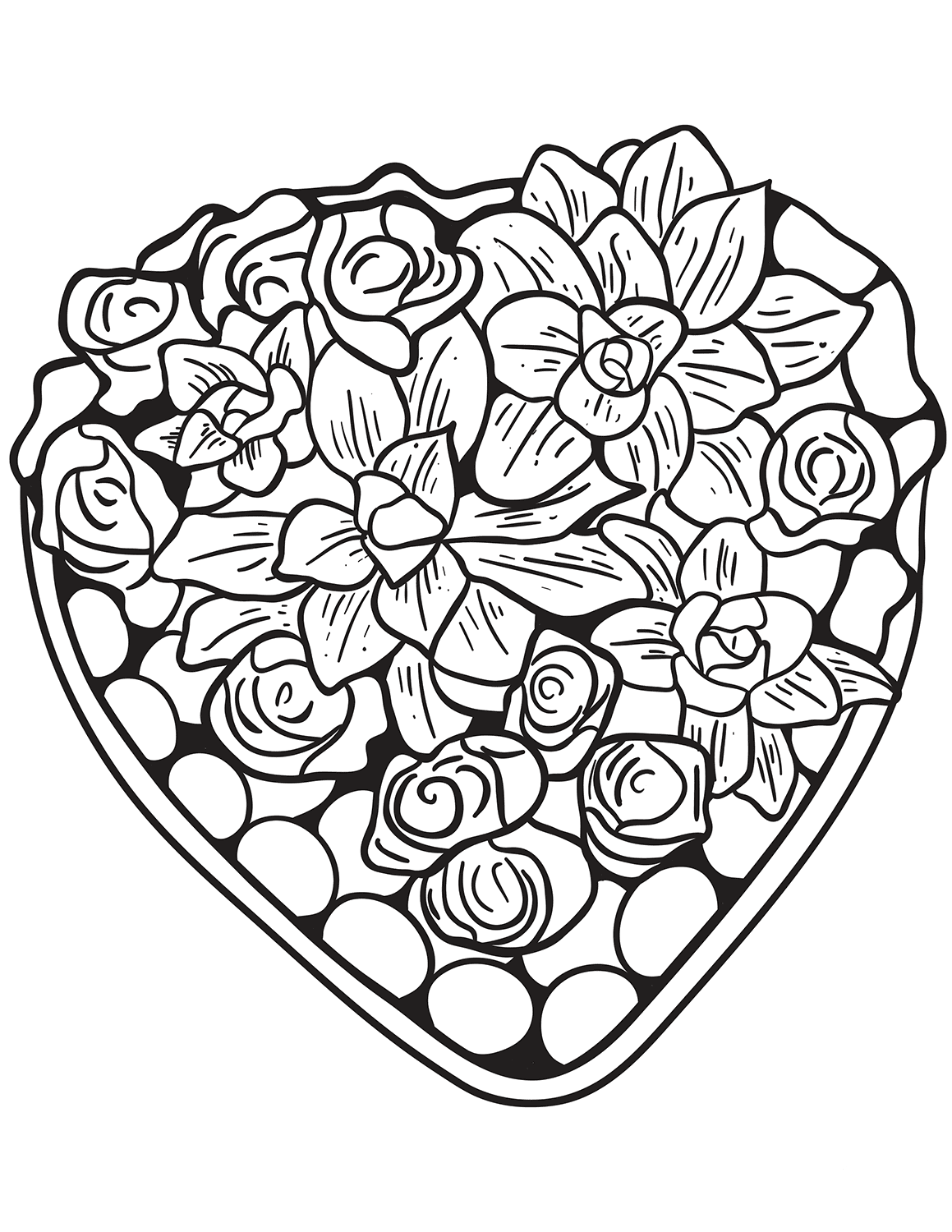 Terrible image with printable hearts coloring pages