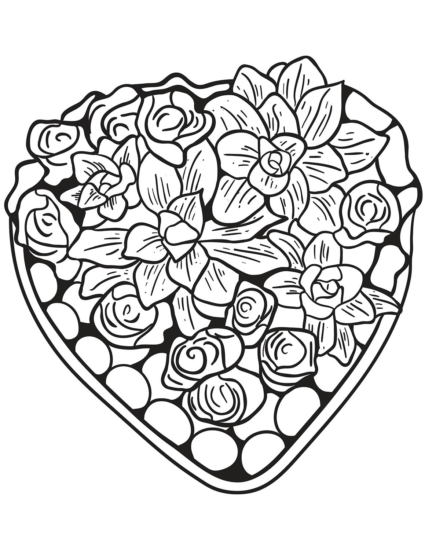 Sassy image regarding printable hearts to color